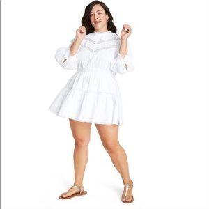 NWT LoveShackFancy Target Talulah White Mini Dress
